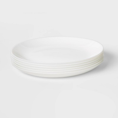 "Glass Salad Plates 7.4"" White Set of 6 - Made By Design™"