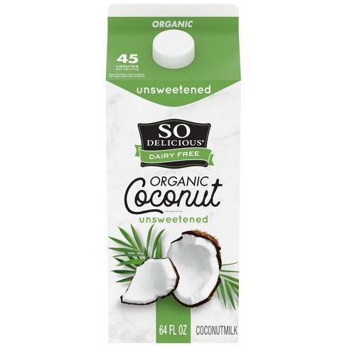 So Delicious Unsweetened Coconut Milk - 0.5gal - image 1 of 4