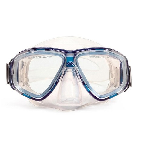 "Pro Goggle Mask Swimming Pool Accessory for Teen/ Adults 5.5"" - Blue/Clear - image 1 of 1"