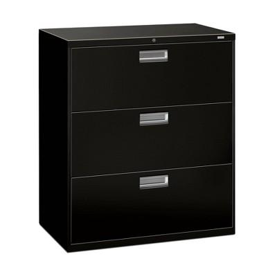 Brigade 3 Drawer File Cabinet Black - OFM