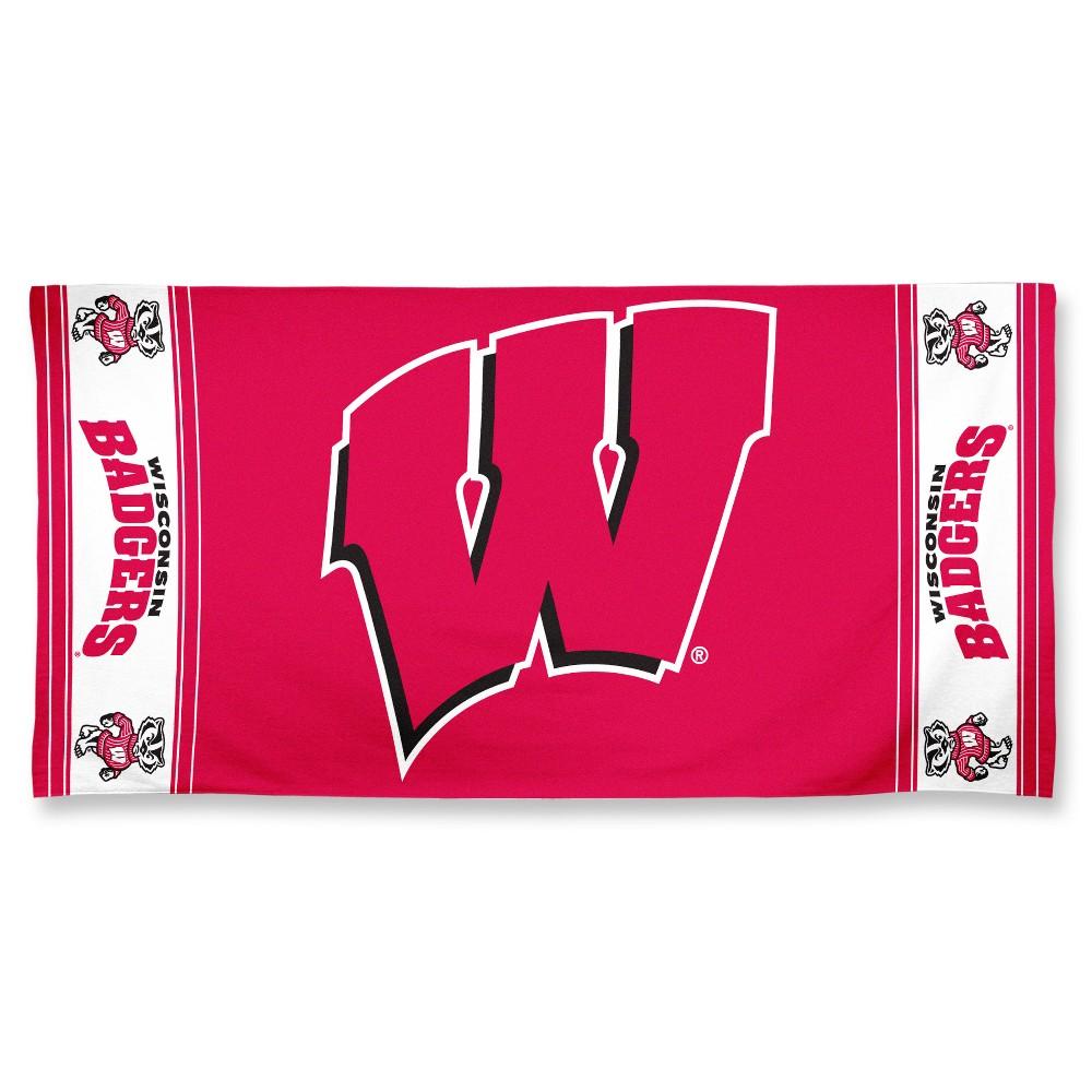 NCAA Wisconsin Badgers Beach Bath Towel