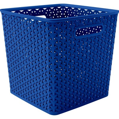 Y Weave 11  Storage Bin - Blue - Room Essentials™