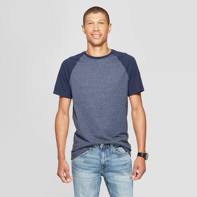Men's Standard Fit Short Sleeve Novelty Crew Neck T-Shirt - Goodfellow & Co™ Fighter Pilot Blue S