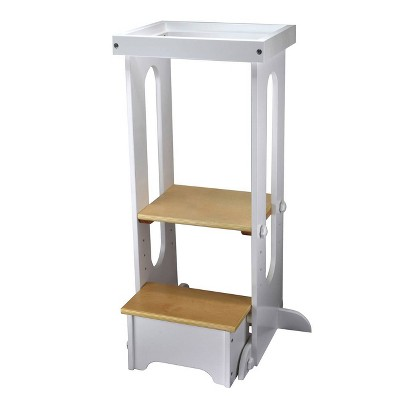 """Little Partners Explore """"N Store Soft White with Natural Learning Tower"""