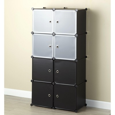 Lakeside Storage Cube Cabinet - Standing Shelf Unit for Living Room, Toy Organization