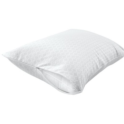 Sealy Posturepedic Allergy Protection Zippered Pillow Protectors 2-Pack-White (Std/Queen)