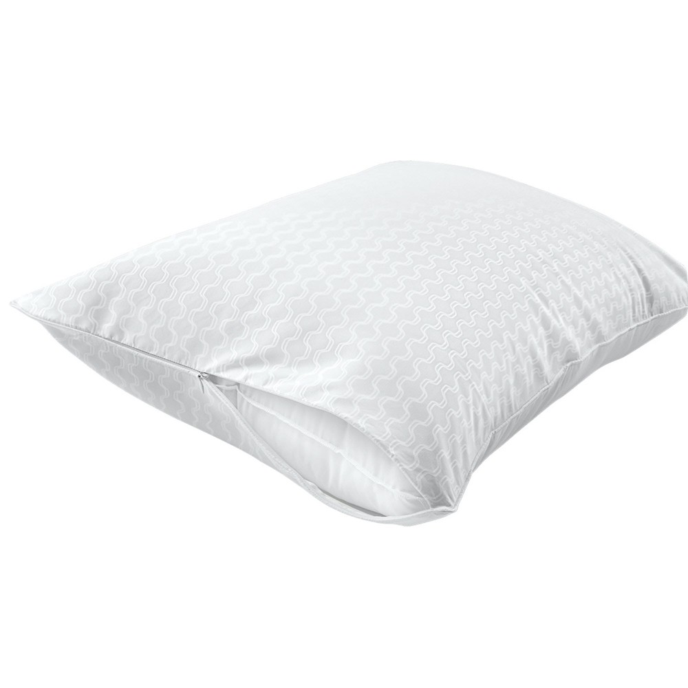 Image of Allergy Protection Zippered Pillow Protectors 2-Pack White (King) - Sealy Posturepedic