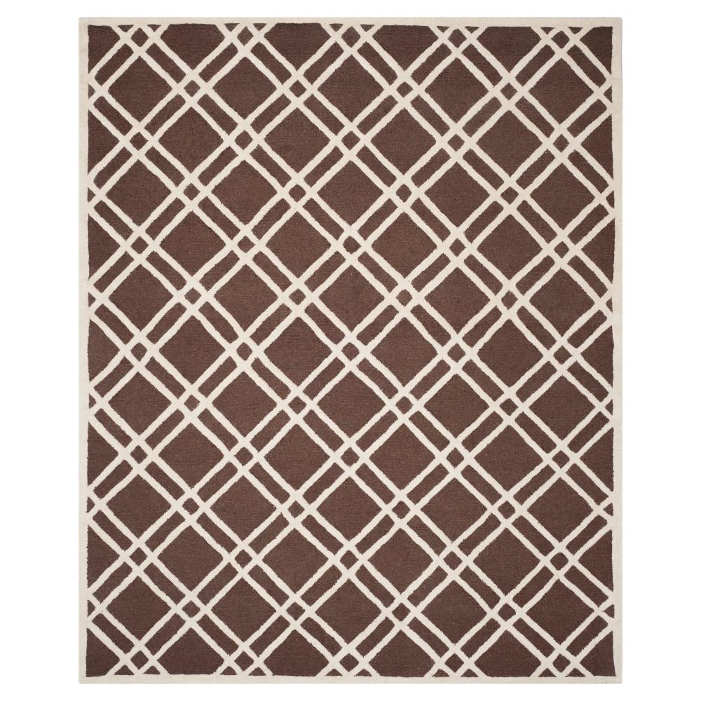 Frey Textured Wool Rug - Dark Brown / Ivory (9' X 12') - Safavieh, Dark Brown/Ivory