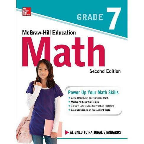 McGraw-Hill Education Math Grade 7, Second Edition - 2nd Edition (Paperback) - image 1 of 1