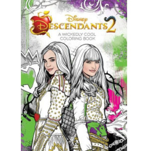 Descendants 2 Wickedly Cool Coloring Book (Paperback) (Disney Book Group) - image 1 of 1