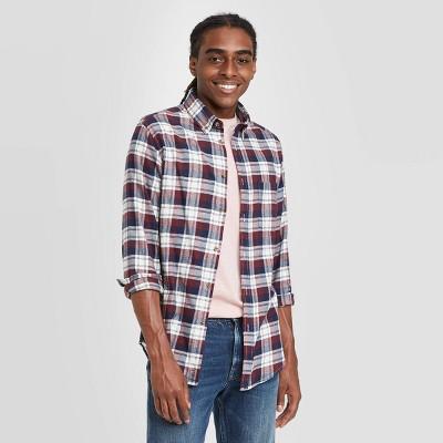 Men's Standard Fit 1-Pocket Flannel Long Sleeve Button-Down Shirt - Goodfellow & Co™