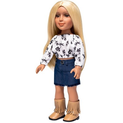"""I'M A GIRLY Zoe 18"""" Fashion Doll with Golden Blonde Interchangeable Wig to Style"""