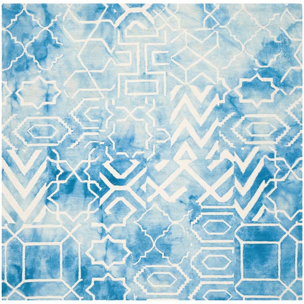 Jaycee Area Rug - Blue/Ivory (7'x7' Square) - Safavieh