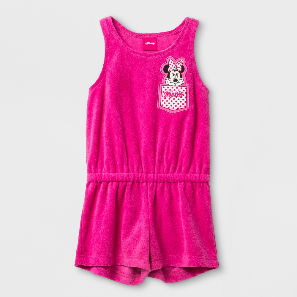 Toddler Girls' Disney Mickey Mouse & Friends Minnie Mouse Cover Up - Pink 3T