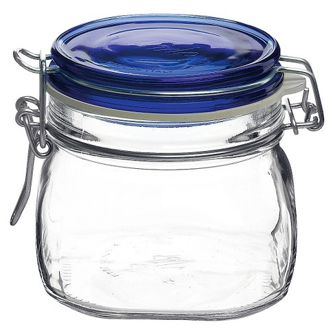Bormioli Rocco Fido Canning Jar with Blue Lid .5L (Set of 12) - image 1 of 1