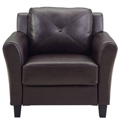Helena Faux Leather Chair Java Brown - Lifestyle Solutions