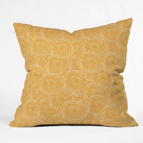 Julia Da Rocha Dahlias Throw Pillow Yellow - Deny Designs - image 1 of 4