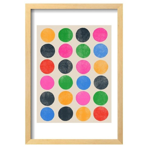 "Colourplay Iii By Garima Dhawan Framed Poster 13""X19"" - Art.Com - image 1 of 3"
