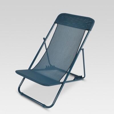 Beau Modern Sling Folding Chair   Navy   Project 62™