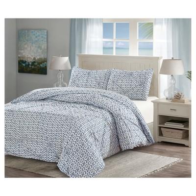 Blue& White Pintuck Batik Duvet Cover Set (Queen)3pc - Style Quartersˊ