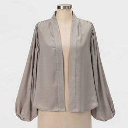 Women's Short Rounded Kimono - A New Day™ Gray