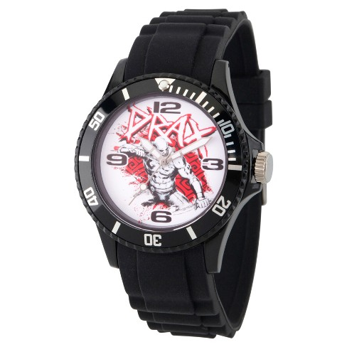 Men's Marvel® Guardians Of The Galaxy Drax Plastic Watch - Black - image 1 of 2