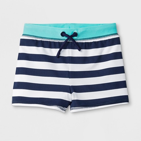 b72622e4e3 Toddler Boys' Striped Knit Swim Trunks - Cat & Jack™ Navy : Target