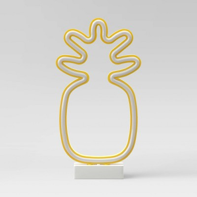 Pineapple Neon LED Edge-Lit Novelty Table Lamp - Room Essentials™