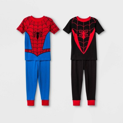 Toddler Boys' 4pc Spider-Man Pajama Set - Red