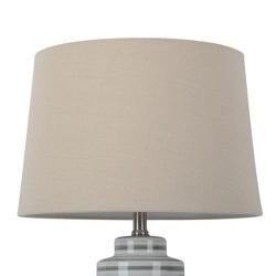 Large Natural Linen Mod Drum Lamp Shade - Threshold™