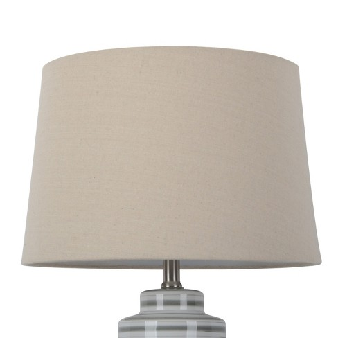 Large Natural Linen Mod Drum Lamp Shade - Threshold™ - image 1 of 5