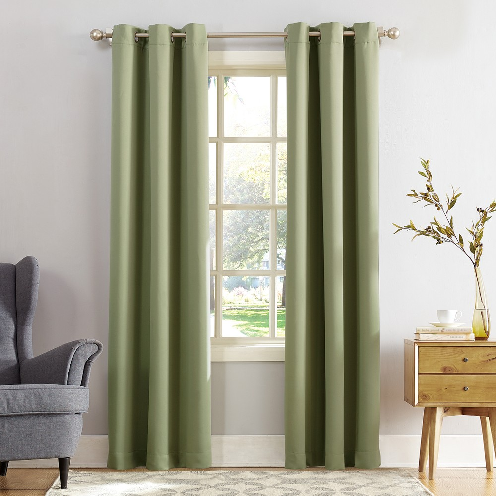 Kenneth Blackout Energy Efficient Grommet Curtain Panel Sage (Green) 40