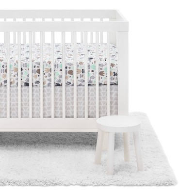 Crib Bedding Set Woodland 4pc - Cloud Island™ Tan/Gray