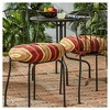 """Set of Two 18"""" Roma Stripe Outdoor Bistro Chair Cushions - Kensington Garden - image 2 of 4"""