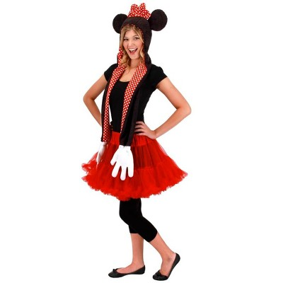 Elope Disney Minnie Mouse Hoodie Scarf Adult Costume Accessory