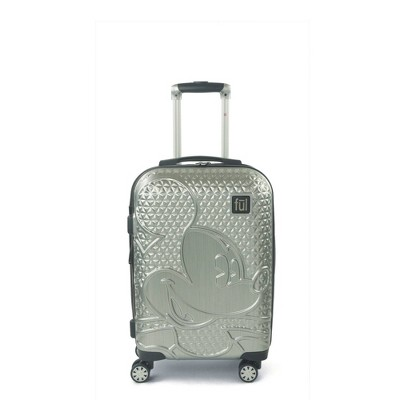 "FUL Disney Mickey Mouse Textured 21"" Carry On Hardside Rolling Suitcase - Silver"