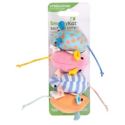 SmartyKat Skitter Mice Spring Catnip Cat Toy - 4pk