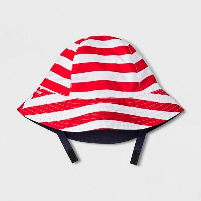Baby Boys' Stripe Bucket Hat - Cat & Jack™ Red 6-12M