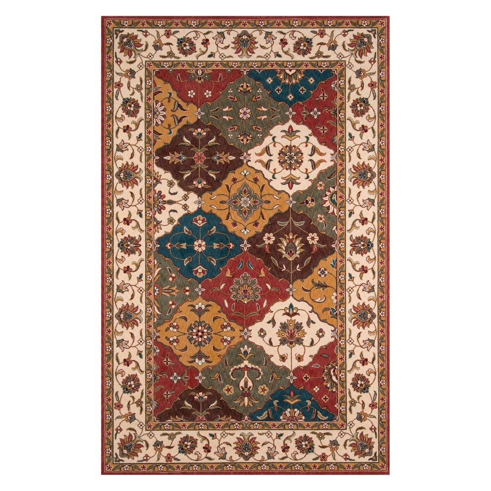 3'X5' Floral Loomed Accent Rug - Momeni, Multicolored