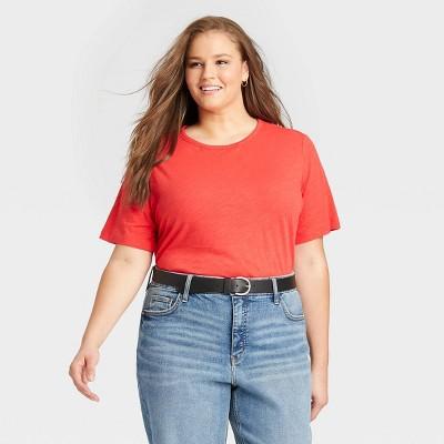 Women's Plus Size Short Sleeve Essential T-Shirt - Ava & Viv™