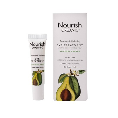 Nourish Organic Renewing & Hydrating Eye Cream - Avocado & Argan - 0.5 fl oz