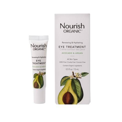 Nourish Organic Renewing & Hydrating Eye Cream - Avocado & Argan - 0.5 fl oz - image 1 of 3
