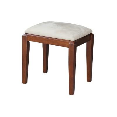Solid Wood Vanity Bench Brown - International Concepts