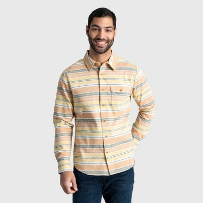 Men's United By Blue Natural Chambray Long Sleeve Button-Down Shirt