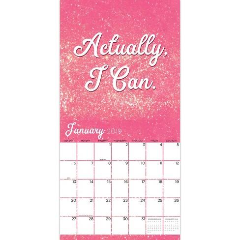 2019 Wall Calendar Girl Boss Tf Publishing Target