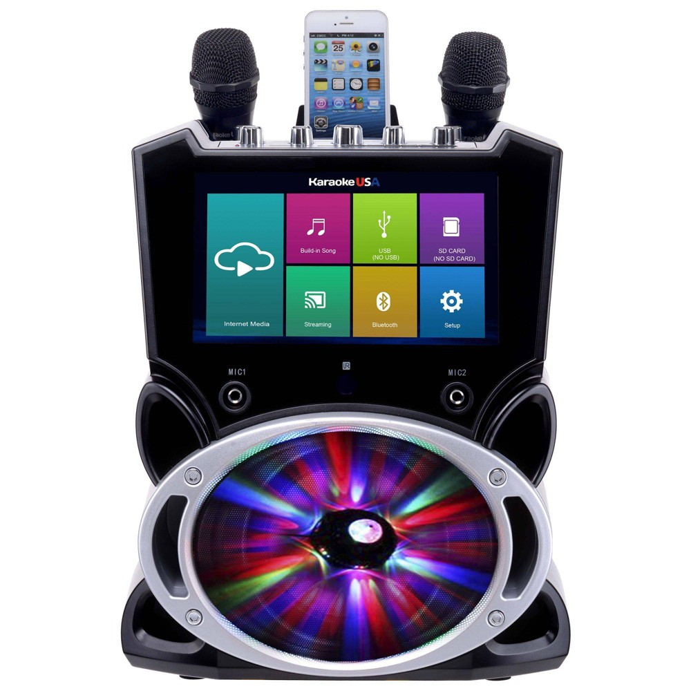 Karaoke USA - Complete Wi-Fi Bluetooth Karaoke Machine (WK849), Black