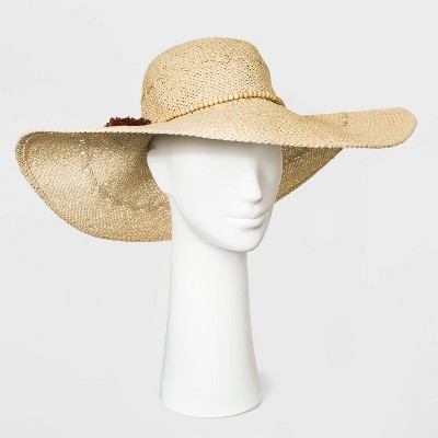 Women's Paper Straw Floppy Hat - A New Day™ Natural
