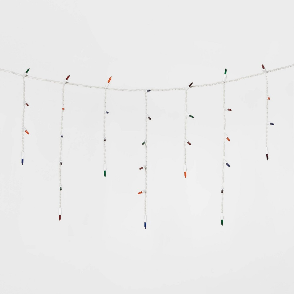 Image of 300ct Christmas Incandescent Icicle Lights with White Wire - Wondershop