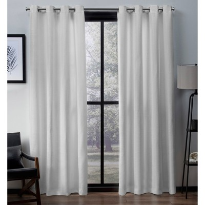Virenze Faux Silk Window Curtain Panel Pair - Exclusive Home™