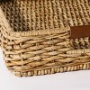 """26"""" x 16"""" Decorative Banana Leaf Rectangle Woven Tray with Cut Off Handles Brown - Threshold™ designed with Studio McGee - image 3 of 4"""